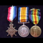 1914/15 TRIO to L-9138 PTE W.J.JENNER  2nd East Kent Regiment (The Buffs) - Went to France in Jan...