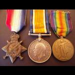 1914 Trio to PTE PARKER  2nd MIDDX.R. - KIA Somme 1st July 1916