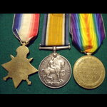 1914 TRIO to SJT SLOANE 2nd K.R.RIF.C. - Thrice Wounded; DOW 1918