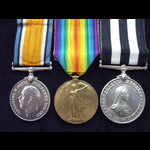 BWM, VICTORY MEDAL & SERVICE MEDAL OF THE ORDER OF ST.JOHN to LIEUT James Frederick KROHN 3rd Mid...