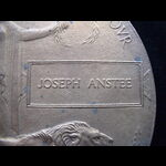 MEMORIAL PLAQUE to JOSEPH ANSTEE - Attributable to just 2 casualties:  PTE, MIDD'X.R. (DIED HOME ...