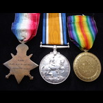 1914/15 TRIO to LIEUT BAIRD 18th HIGH.L.I. - commissioned from the A.CYC.CORPS