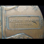 UNIQUE MEMORIAL PLAQUE to 2nd LIEUT Arthur Stanley TRELIVING, 23rd MIDDLESEX REGT attached Trench...