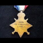 1914/15 STAR to 14050 PTE Geo. | Great War Medals