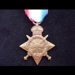 1914/15 STAR to 1721 PTE Charles Frederick BAKER 9th EAST SURREY REGT  - Born Lambeth.  KIA Ypres...