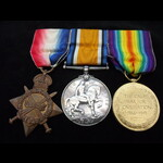 1914/15 TRIO to 9943 PTE Herbert HARVEY 31st Divisional Cyclist Company, A.CYC.CORPS - later comm...