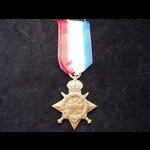 1914/15 STAR to 1104 PTE Rowland THOMAS 1/4th WELSH REGT - Served at Gallipoli 1915 & admitted to...