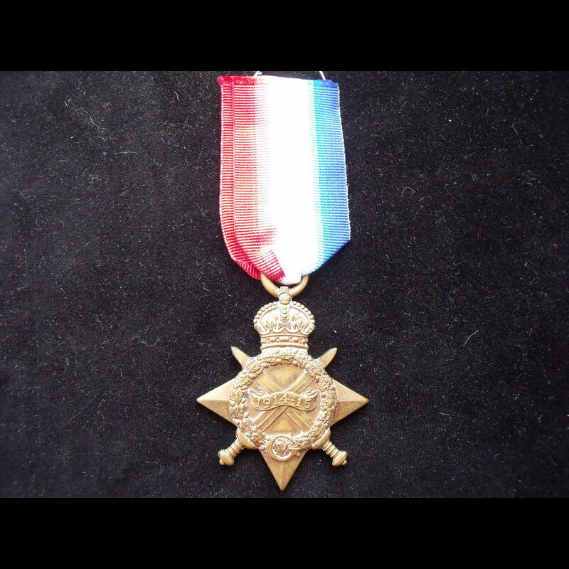 1914/15 STAR to 1104 PTE Rowl. | Great War Medals