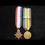 1914/15 STAR & VICTORY MEDAL to PTE Charles GENESE,  ARMY PAY CORPS