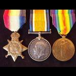 1914 Trio to  PTE CURRIE 3rd Coldstream Guards - Wounded during First Battle of Ypres 1914