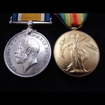 BWM, VICTORY MEDAL  to PTE BAKER 7th E.KENT R. With Original Photo (Wounded)