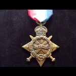 1914/15 STAR to 48 CPL MATTHEWS 13th Australian Light Horse Regt, later commissioned LIEUT, 38th ...