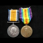 BWM & VICTORY MEDAL to PNR Jonathan SEAMARK, Royal Engineers - 128989 may be a Special Gas Compan...