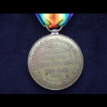 VICTORY MEDAL to PTE Frank Meredith HELMORE  7th SUFFOLK REGT Wounded in France & discharged 28/1...