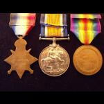 1914 Trio & Memorial Plaque to PTE PEARCE 2nd MIDD'X.R (KIA Ypres 1917)