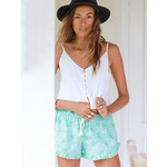 Sea Horse Beach Shorts in Turquoise & Green