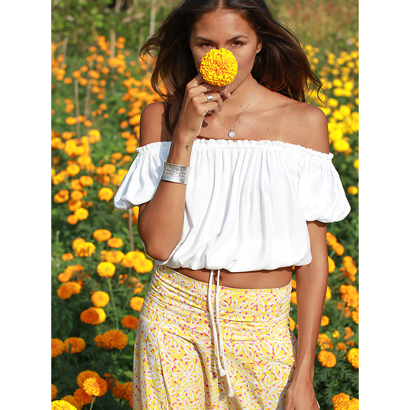 Cropped Gypsy Top - White | EmAsia Designs