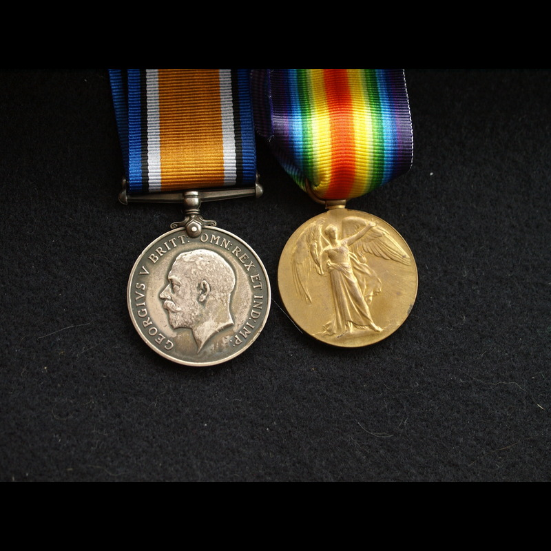 WW1 Pair Pte Caldwell Army Ve. | Charlies Medals
