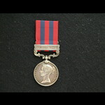 India Medal clasp Hazara 1891 Pte Campbell 2nd Seaforths
